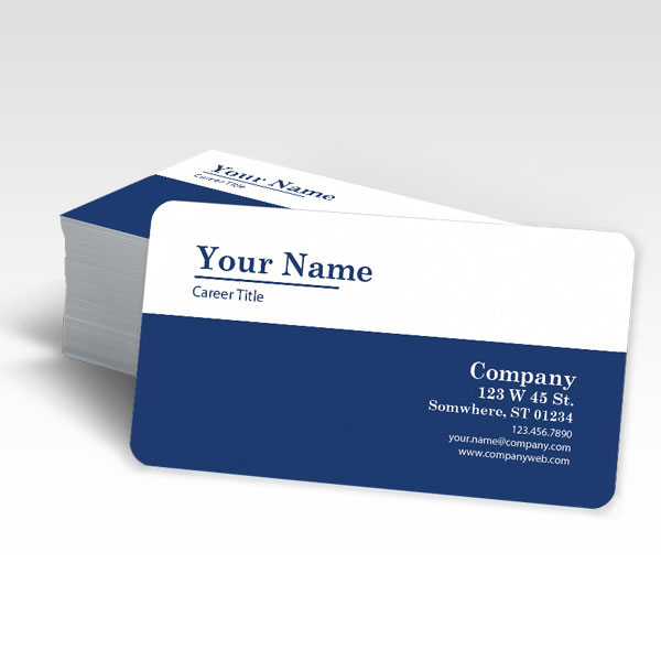 Business Cards with rounded corners.