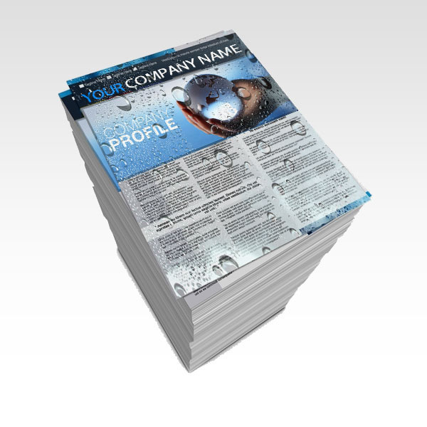 Impermeable card-stock printing