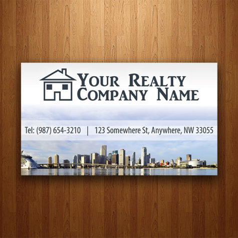 Miami Real Estate Agency Business Card Design