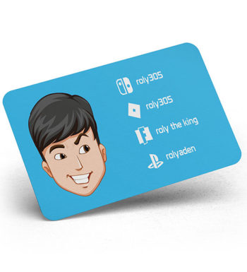 Gaming Username Social Cards