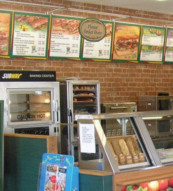 Buy Subway Menu Signs