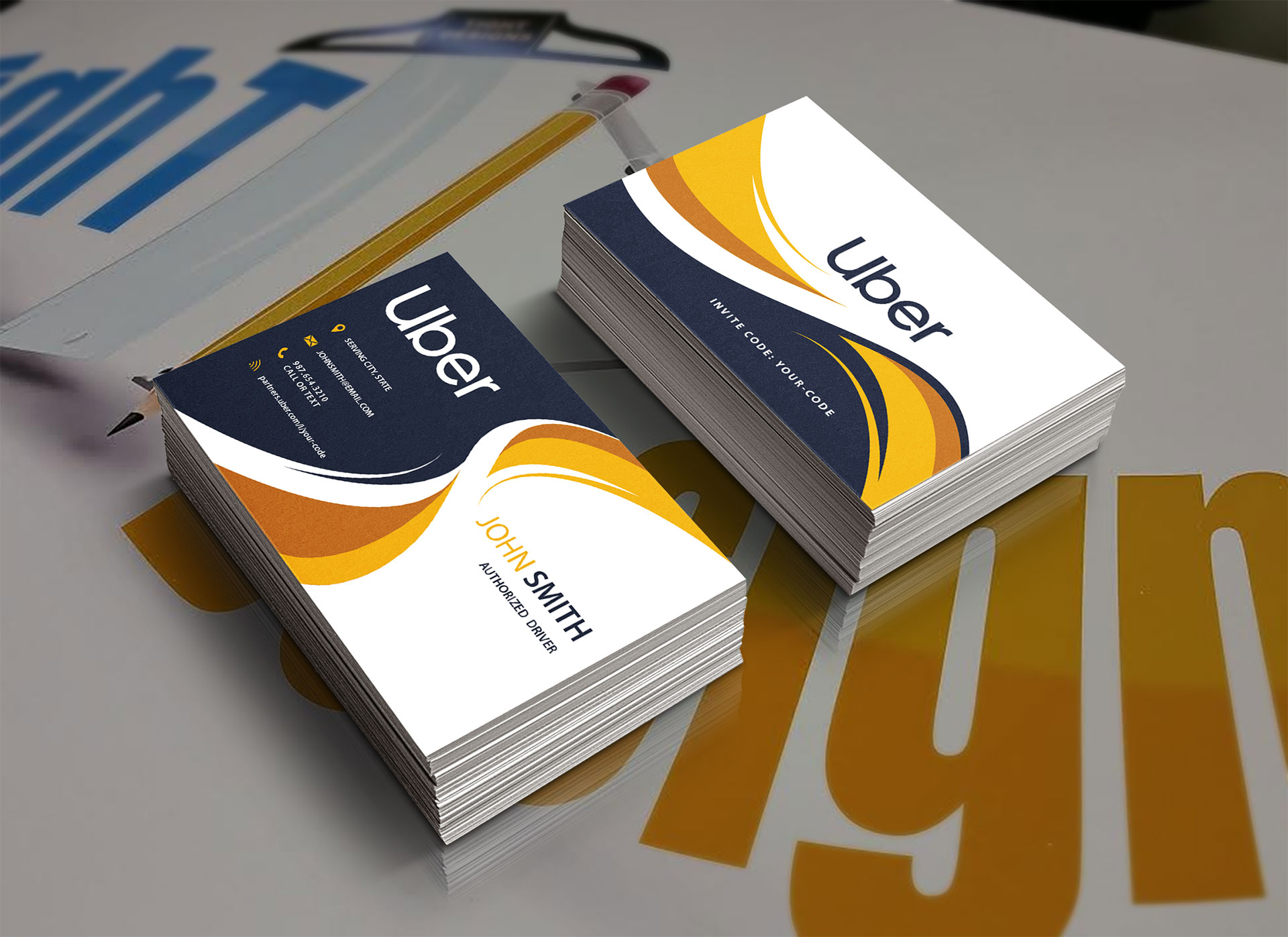 uber business cards modern design  tight designs