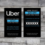 Enlarged picture displaying Uber Rider Referral card design