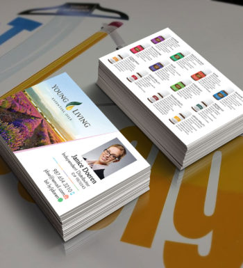 Young Living Business Cards mock up