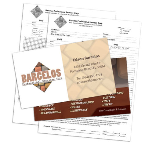 Barcelos Construction Invoices Logo and Business Cards